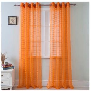 Glory Home Design Accents - Karen Sheer Grommet-Top Single Curtain Panel_ORSHR